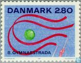 Postage Stamps - Denmark - World Gymnaestrada