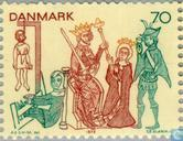Postage Stamps - Denmark - Frescoes