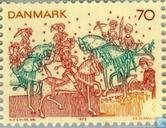 Timbres-poste - Danemark - Fresques