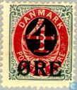 Postage Stamps - Denmark - Overprint on Digit