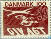 Postage Stamps - Denmark - New traffic rules
