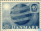 Postage Stamps - Denmark - 75 years of UPU