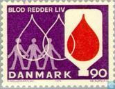 Postage Stamps - Denmark - Blood Donation