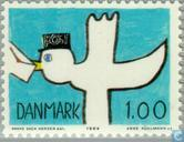 Postage Stamps - Denmark - World Communication Year