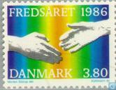 Postage Stamps - Denmark - Int. Year of peace