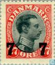 Postage Stamps - Denmark - King Christian X with imprint
