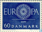 Postage Stamps - Denmark - Europe – Spoked Wheel