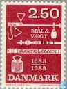 Postage Stamps - Denmark - 300 years Danish Eich Regulation
