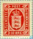 Postage Stamps - Denmark - National coat-of-arms, Öre values