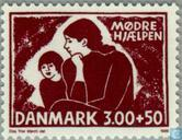 Postage Stamps - Denmark - Mother and child