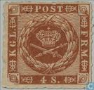 Postage Stamps - Denmark - Horn with lines