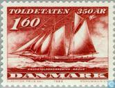 Postage Stamps - Denmark - Sailing Ship