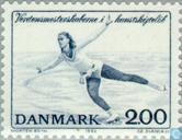 Postage Stamps - Denmark - WORLD CUP figure skating