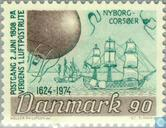 Postage Stamps - Denmark - 350 years Danish post