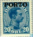 Postage Stamps - Denmark - King Christian X with imprint ' PORTO '