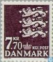 Briefmarken - Dänemark - National Wappen