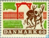 Postage Stamps - Denmark - 300 years Park Jaegersborg