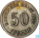 German Empire 50 pfennig 1876 (E)