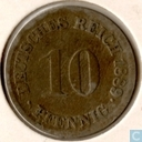German Empire 10 pfennig 1889 (F)