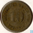 German Empire 10 pfennig 1876 (D)