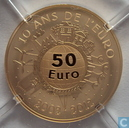 "France 50 euro 2012 (BE) ""10th Anniversary of the Euro"""