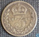United Kingdom 3 pence 1894