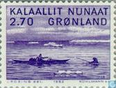 Postage Stamps - Greenland - Art