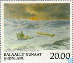 Postage Stamps - Greenland - Paintings
