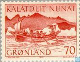 Postage Stamps - Greenland - Post Transport-Boat