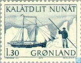 Postage Stamps - Greenland - Post Transport-Ship