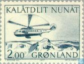 Briefmarken - Grönland - Post-Transporthubschrauber