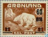 Postage Stamps - Greenland - Polar Bear-Imprint