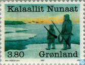Postage Stamps - Greenland - Year of the hunters