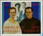 Postage Stamps - Greenland - Silver wedding