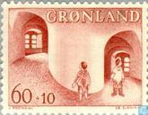 Postage Stamps - Greenland - Child Aid