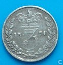 United Kingdom 3 pence 1874