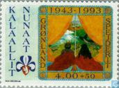 Postage Stamps - Greenland - Scouting 50 years