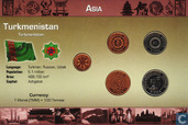"Turkmenistan jaarset 1993 ""Coins of the World"""