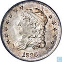Verenigde Staten Half dime 1836 (3 over inverted 3)