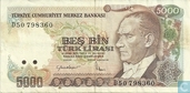 Turkey 5000 lirasi