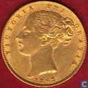 United Kingdom 1 sovereign 1862