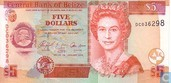 BELIZE 5 Dollars