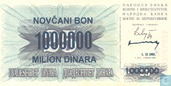 Bosnia and Herzegovina 1 Million Dinara 1993