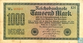 Reichsbank, 1000 Mark 1922 (75O)