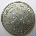 France 50 centimes 1944 B (Vichy)