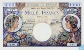 1000 Francs(commerce&industrie)type 1940