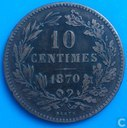 Luxembourg 10 centimes 1870 (sans point)