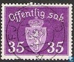 Postage Stamps - Norway - Without watermark 1941 offentlig Sak 35