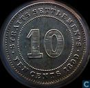 Straits Settlements 10 Cent 1899