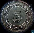 Straits Settlements 5 Cent 1897
